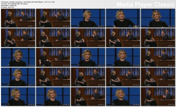 Jennifer Lawrence - Late Night with Seth Meyers - 5-21-14