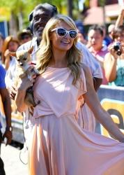 Paris Hilton on Extra set in Universal City July 22 2014