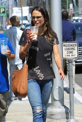 Jordana Brewster - Shopping with a friend in Beverly Hills 8/23/17