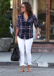 Eva Longoria - Leaving Ken Paves Salon in Beverly Hills 7/27/15