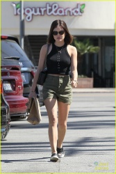 Lucy Hale - Leaving a CVS Pharmacy in Los Angeles 3/7/15
