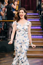 Anne Hathaway - The Late Late Show with James Corden: April 20th 2017
