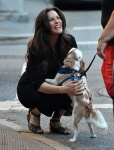 Liv Tyler Stopped to play with her dog while talking to a couple of friends in NY June 29-2015 x8