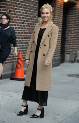 Sienna Miller - Visiting The Late Show With Stephen Colbert in NYC - 10/26/15