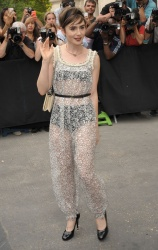 Lily Collins - Chanel Haute Couture Fall/Winter 2015/2016 Fashion Show 7/7/15