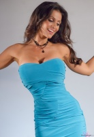 Дениз Милани, фото 5498. Denise Milani Blue Dress 2012 :, foto 5498