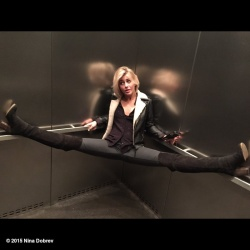 Julianne Hough in an Elevator - 2/8/15