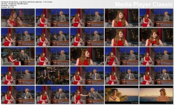 Emma Stone - Late Show with David Letterman - 7-16-14