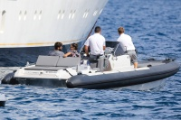 Nina Dobrev and Asustin Stowell enjoy the ocean off the cost the French Riviera (July 26) YyFLF02J