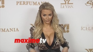 Lindsey Pelas OK! Magazine's 2016 Grammy Event Red Carpet in Los Angeles