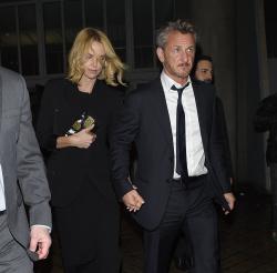 Sean Penn - Charlize Theron and Sean Penn - seen leaving Royal Festival Hall. London - February 16, 2015 (153xHQ) BYoM2PfC