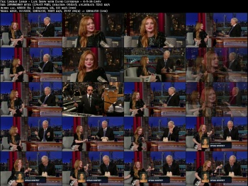 Lindsay Lohan - Late Show with David Letterman - 4-9-14