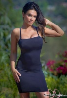 Дениз Милани, фото 5561. Denise Milani Black Dress 2 :, foto 5561