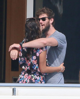 Nina Dobrev and Asustin Stowell enjoy the ocean off the cost the French Riviera (July 26) DrO6ojMb
