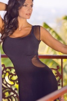 Дениз Милани, фото 5723. Denise Milani Black Dress 2012 :, foto 5723
