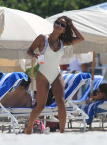 Christina Milian - Looking Sexy In A One-piece Swimsuit (8/21/17)