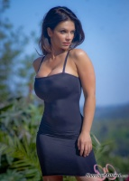 Дениз Милани, фото 5565. Denise Milani Black Dress 2 :, foto 5565