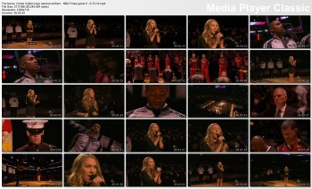Colbie Caillat sings national anthem - NBA Finals game 5 - 6-15-14 (leggy in short skirt)