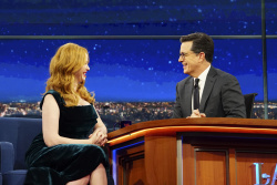 Christina Hendricks - The Late Show with Stephen Colbert: February 17th 2017