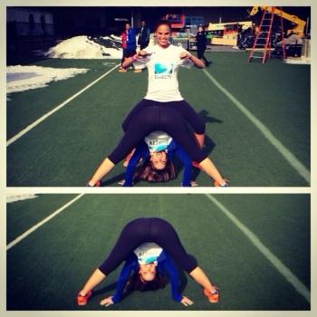 Maria Menounos Bent Over in Spandex at DirecTV Beach Bowl - Instagram Photo