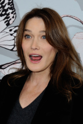 Carla Bruni-Sarkozy - Paris Fashion Week: Schiaparelli Haute Couture S/S 2016 Fashion Show in Paris - 01/25/16