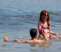 Alyson Hannigan Wearing a Bikini in Hawaii 9/30/13