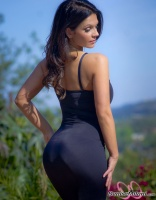 Дениз Милани, фото 5574. Denise Milani Black Dress 2 :, foto 5574