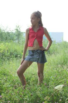 Silver Jewels Violette Denim Skirt 2 | Black Models Picture