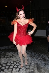 Kelly Brook at a Halloween Party in Hollywood - October 31, 2014