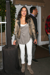 Michelle Rodriguez - Leaves Giorgio Baldi Restaurant in Santa Monica 2/14/17