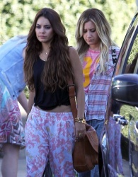 Vanessa Hudgens & Ashley Tisdale - film a project in LA 6/26/13