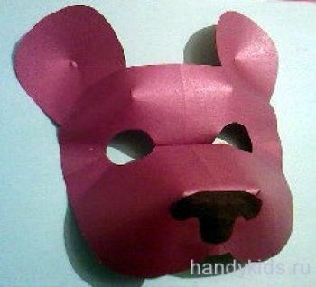 делаем маску медведя своими руками
