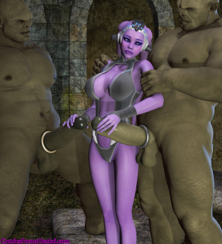 Hot 3d alien babe gets fucked by a martian 5