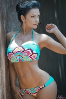 Дениз Милани, фото 5835. Denise Milani Colorful bikini 2012 :, foto 5835