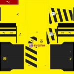 Download Borussia Dortmund Bundesliga and CL Kits by Tunevi