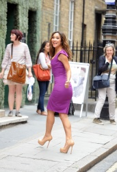 Myleene Klass arriving for a Mother Care photo-call in Central London July