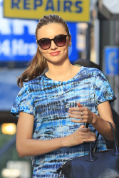 Miranda Kerr is seen leaving a photoshoot in New York City July