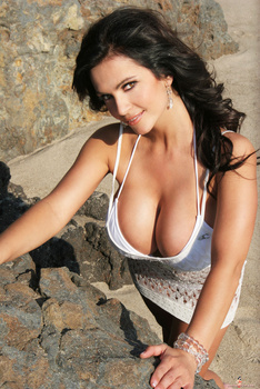 Дениз Милани, фото 4431. Denise Milani White Bikini (From Her Old Website), foto 4431