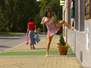 Name Photoset: Alexandra G - 03 - On The Streets And At A Train Station