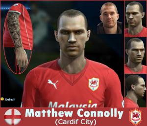 Download PES 2013 Matthew Connolly Face by SantanAji