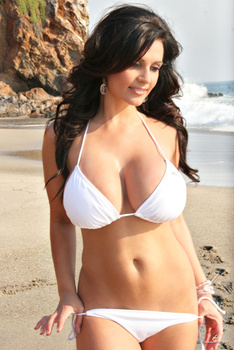 Дениз Милани, фото 4444. Denise Milani White Bikini (From Her Old Website), foto 4444