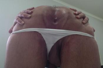 Mi orto estrenando tanga blanca, muy roto (Nena Culona)