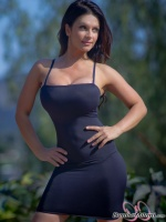 Дениз Милани, фото 5557. Denise Milani Black Dress 2 :, foto 5557