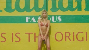 Hailey Clauson Hot Dog Eating with SI Swimsuit Cover Model 07/04/16