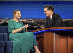 Shailene Woodley - The Late Show with Stephen Colbert: February 13th 2017