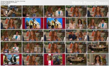 Poppy Montgomery - The Talk - 6-19-14 (amazing cleavage)