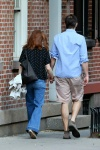 Julianne Moore walk to Bar Pitti for dinner in Greewnich Village New York May 30-2015 x9