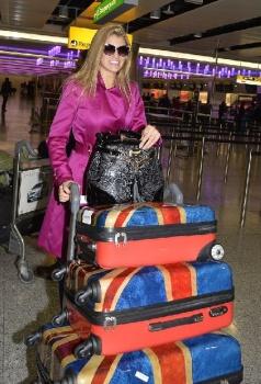 Amy Willerton departs Heathrow Airport for Australia