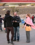 Джуно Темпл, фото 25. Juno Temple 2012-07-27 - On Set of Truck Stop in Palmdale, foto 25