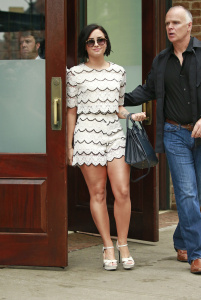 Demi Lovato Showing Her Hot Legs in New York City - 5/28/15